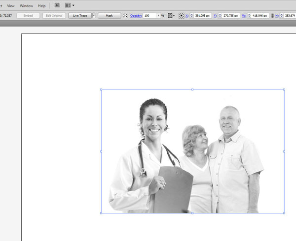 Illustrator convert color image to grayscale